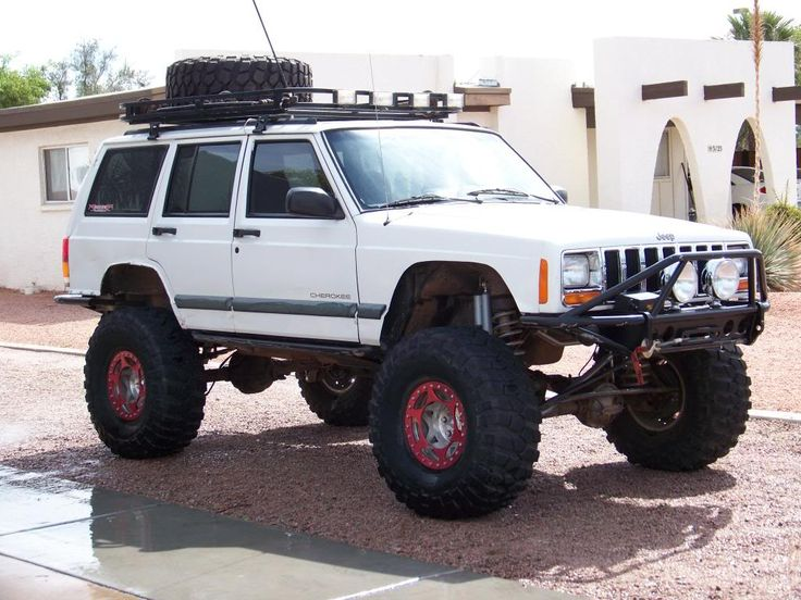 jeep cherokee lifted | Here is my friend Jasons Jeep thats lifted like mine. There are 3 ...