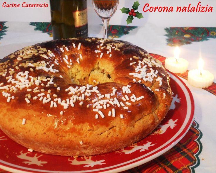 Corona natalizia una ricetta dolci di Natale facile veloce da preparare ideale da offrire, da regalare in questi giorni di festa con ripieno di frutta secca