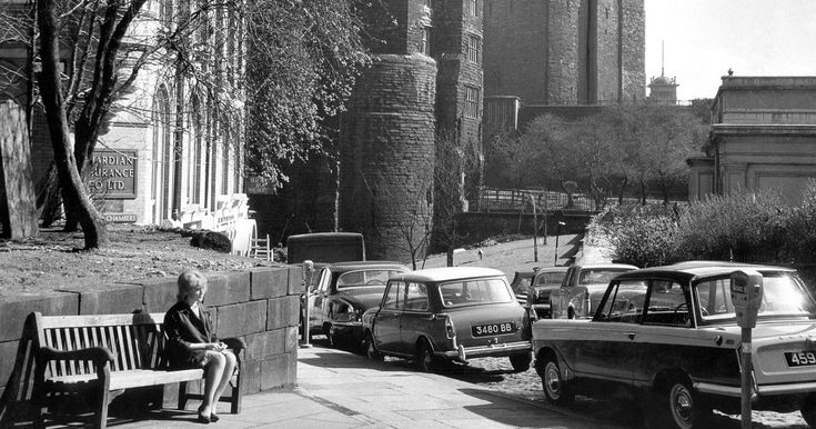 Nearly half a century separates these two images from Amen Corner - a historic and pleasant corner of Newcastle