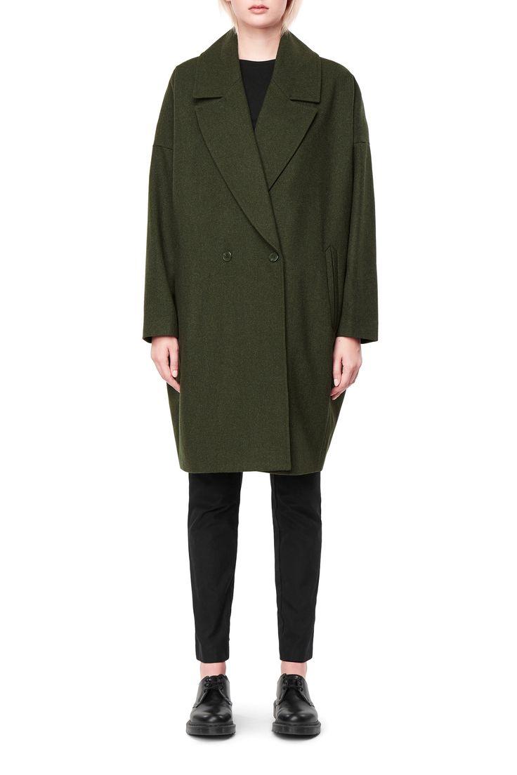 Weekday image 6 of Cece Coat in Green Yellowish Dark