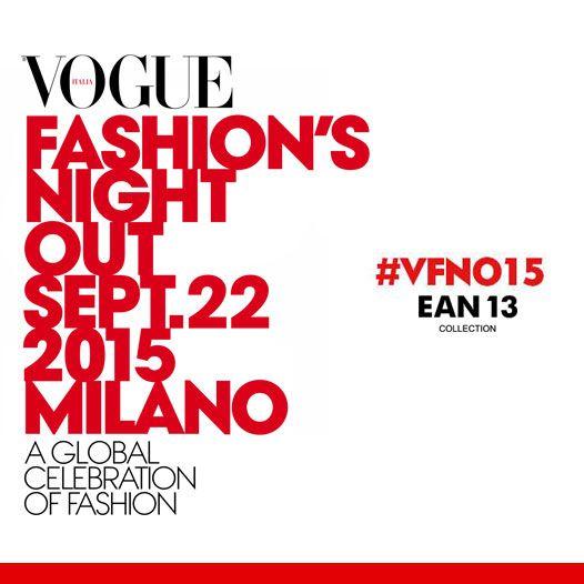 #Ean13 partecipa alla #Vogue Fashion's Night Out di #Milano con la creazione della t-shirt ufficiale. #VFNO15