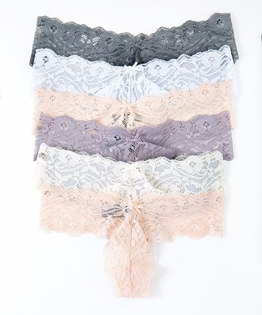 Love this Neutral Lace Thong Set - Women on #zulily! #zulilyfinds