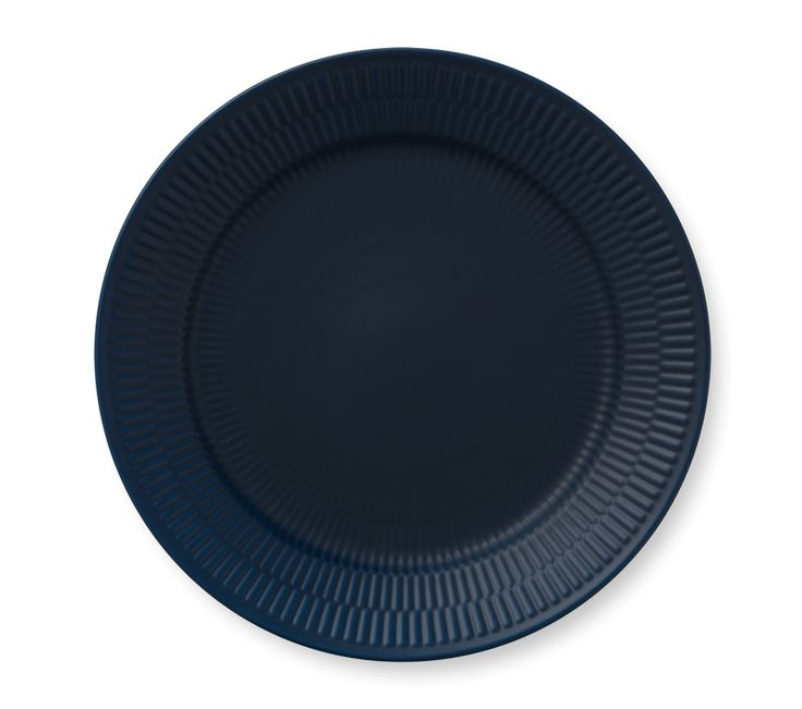 Blue Fluted Plate 27 cm