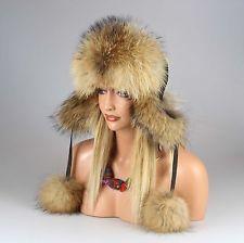 Señora mapache gorra real gorro fell gorro gorra aviador invierno gorro uschanka: 139,95 EUREnd Date: 27-sep 12:15Buy It Now for only: US…