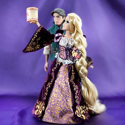 Rapunzel and Flynn Tangled Fairytale Couple Designer Disney Doll Set LE 6000 Disney