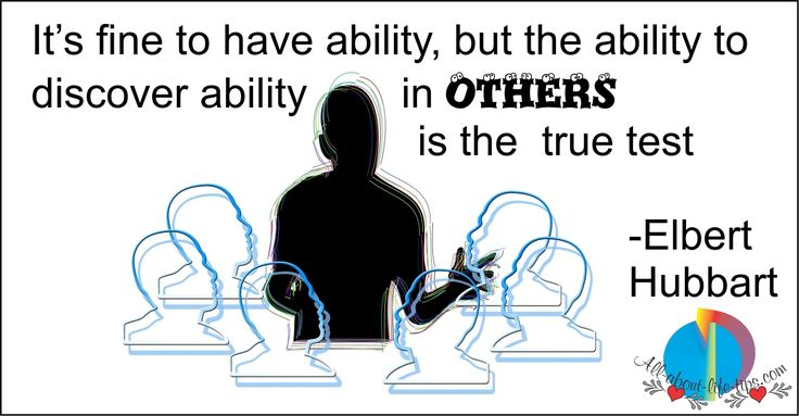 See the Ability in others