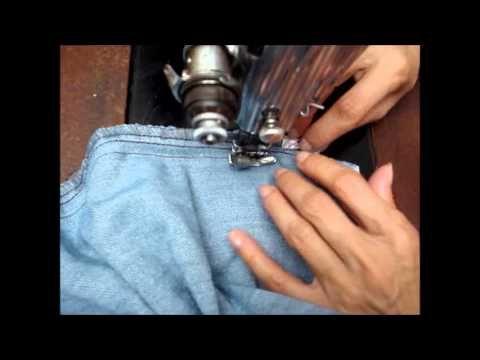 Como apertar short e calça jeans na lateral por Alana Santos Blogger - YouTube