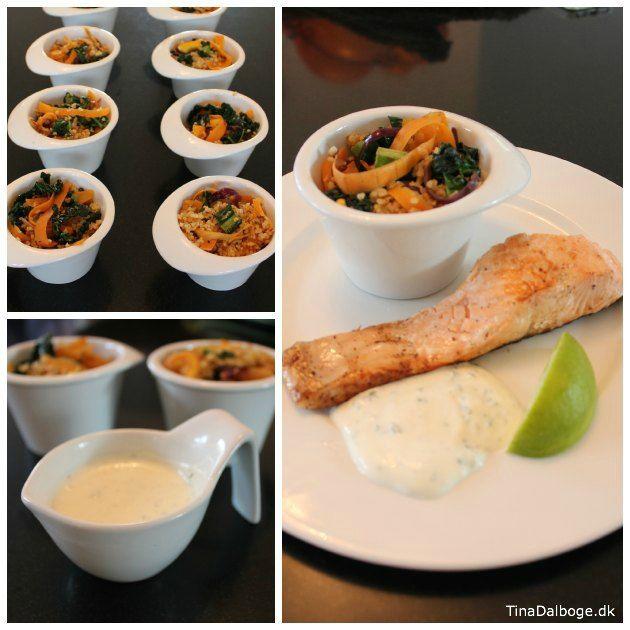 lun salat med bulgur, palmekål, chili, hvidløg - god til frokost og aftensmad i stedet for kartofler