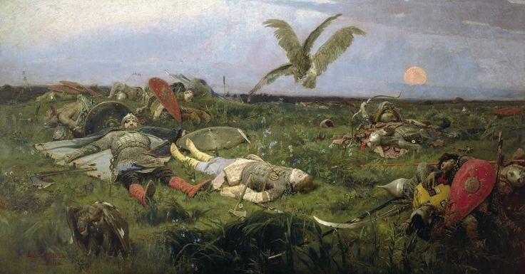 Vasnetsov - Fighting with the Polovtsy (after Igor Svyatoslavich)