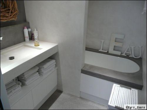 55 best mortex salle de bain parents images on Pinterest Bathroom - enduit salle de bain