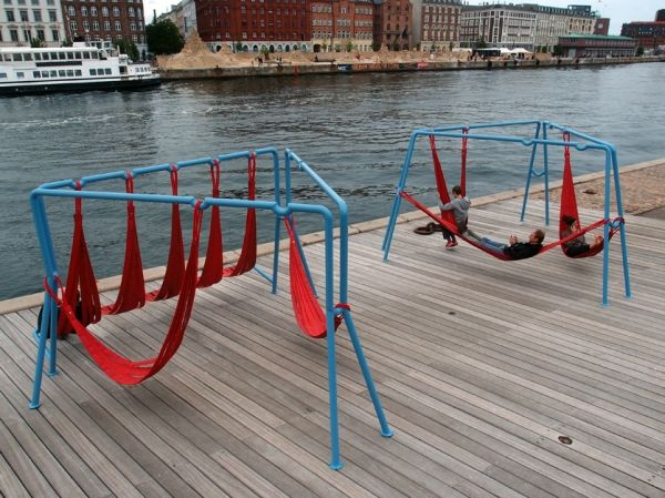 Steel pipes and rejected fire hoses, make alternative seating/playing elements for public space. Visit the slowottawa.ca boards >> https://www.pinterest.com/slowottawa/