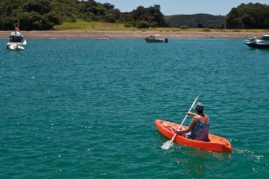 Kayaking to island