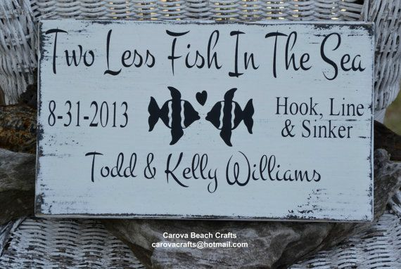 Wedding Sign - Beach Wedding Sign - Personalized - Wedding Gift - Wedding Decor - Customized Colors - Painted, No Vinyl - Anniversary Gift via Etsy