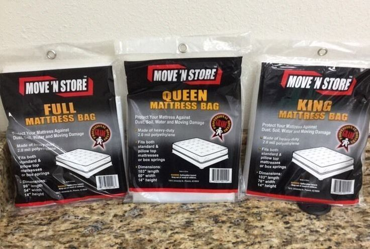 Mattress Bags 1 Full 1 Queen 1 King Covers Move N Store Lot of 3 #MoveNStore