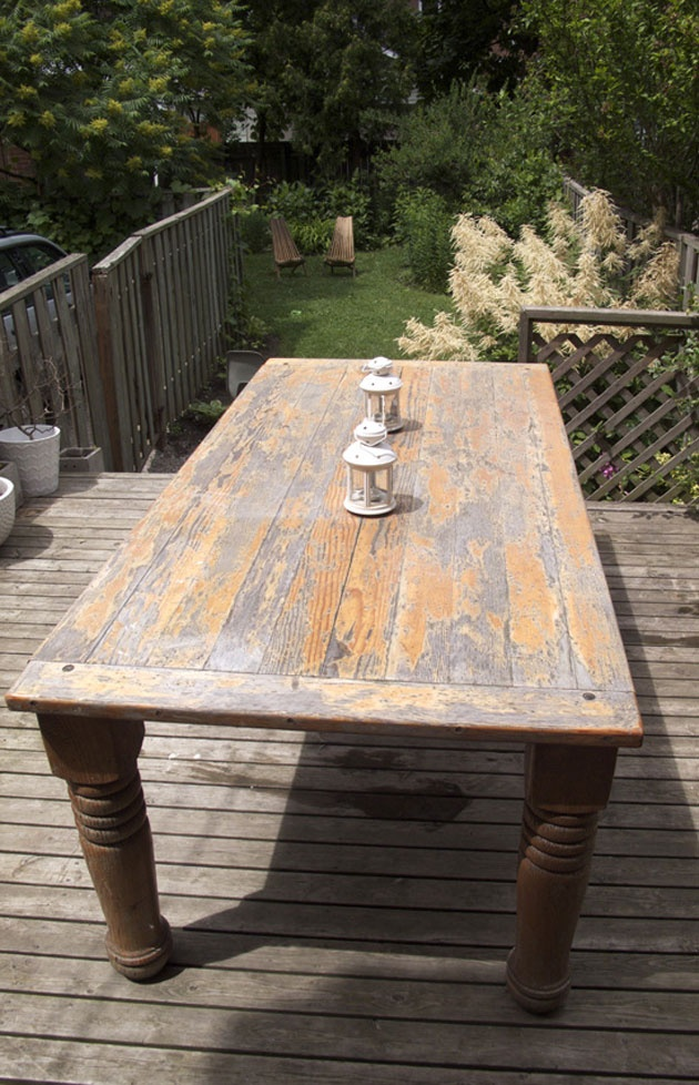 Une table de jardin avant apr s ext rieur outdoor for Amenagement exterieur jardin avant apres
