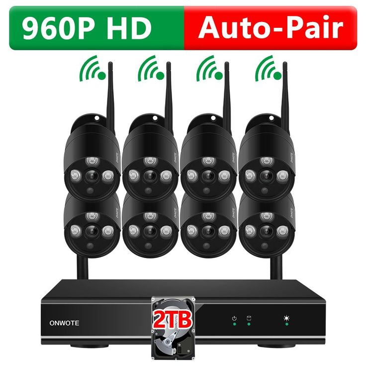 [2TB Hard Drive Pre-installed] ONWOTE 1080P HD 8 Channel Wireless Security Camera System with 8 Outdoor 960P HD 1.3 MP Wifi IP Surveillance Camera for Home with 2TB Hard Drive
