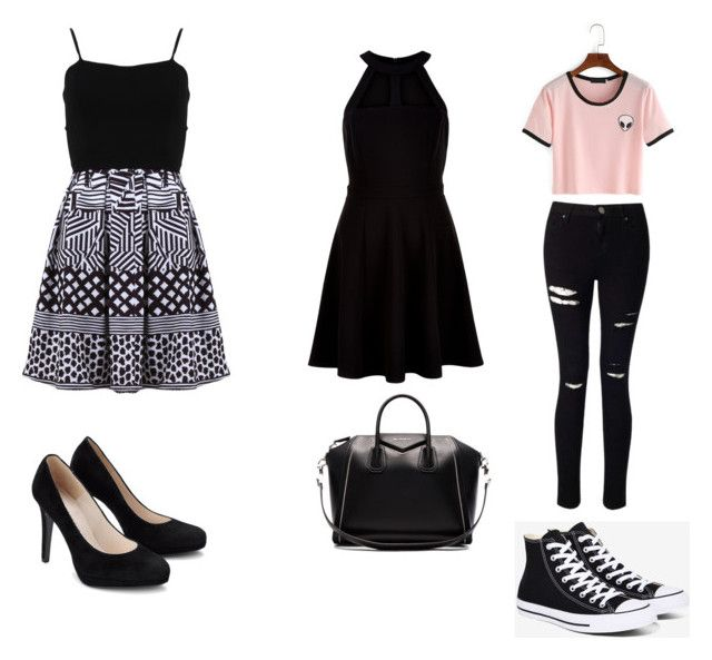 """Feestje"" by ninke-schoeters on Polyvore featuring mode, FRACOMINA, New Look, Givenchy, Miss Selfridge en Converse"