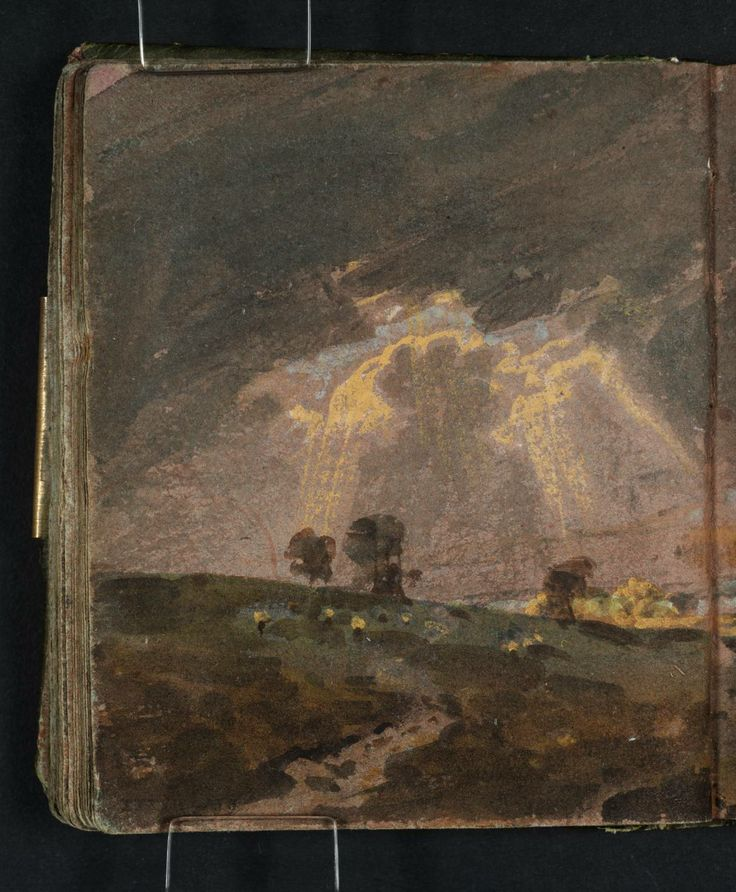 Joseph Mallord William Turner, 'Distant View of London ?from Nunhead with the Dome of St Paul's and the Sun Breaking through Stormy Clouds' 1796-7