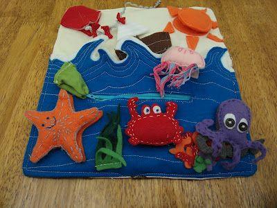 Under the Sea Quiet Book page