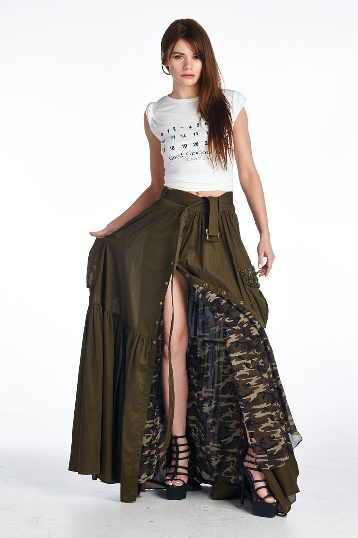 Best 25  Olive maxi skirts ideas on Pinterest | Maxi skirt ...