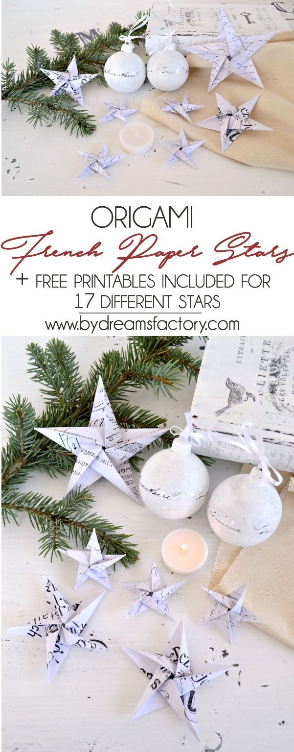 DIY {Origami} French Paper Stars & free printables