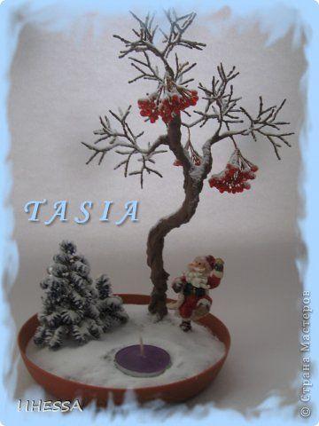 Бонсай топиарий Бисероплетение  ЗИМНИЕ ПОДСВЕЧНИКИ  Бисер / Winter topiary candlestick / Inspiration