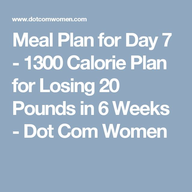 A 7-Day, 1,300-Calorie Diet Plan, Designed by a Nutritionist