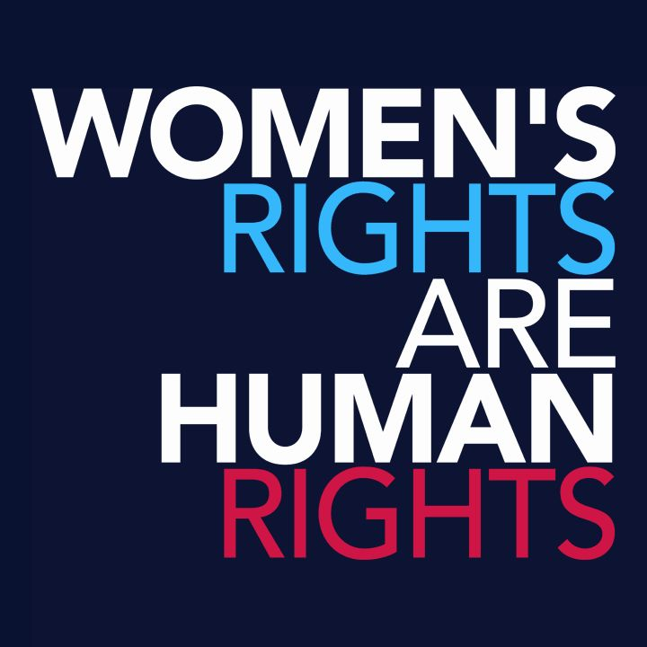 "This ""Women's Rights Are Human Rights"" t-shirt makes a statement about equal rights. It's a feminist t-shirt and protest t-shirt than can be worn by anyone who fights for equality."