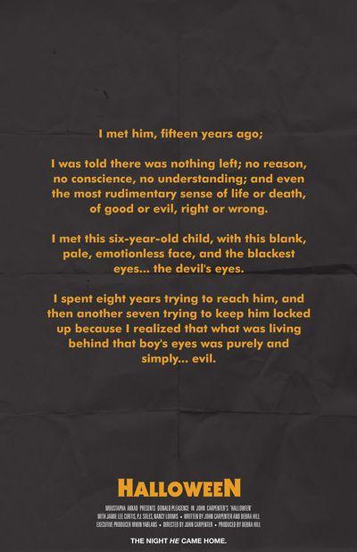 Halloween Michael Myers Quote Poster Art Print