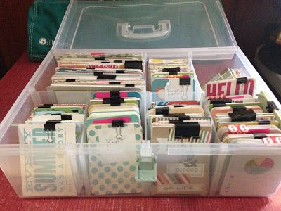 Medium Close To My Heart organizer bin via Mrs. Crafty Adams: Organizing Project Life