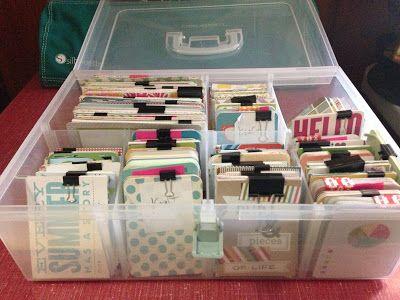 Medium Close To My Heart organizer bin via Mrs. Crafty Adams: Organizing Project Life