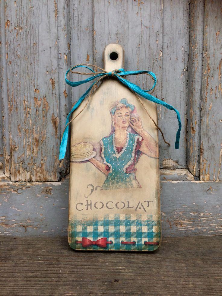 decupage loparik, vintage, FidArt, handmade