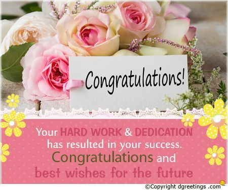 Congratulations and best wishes.