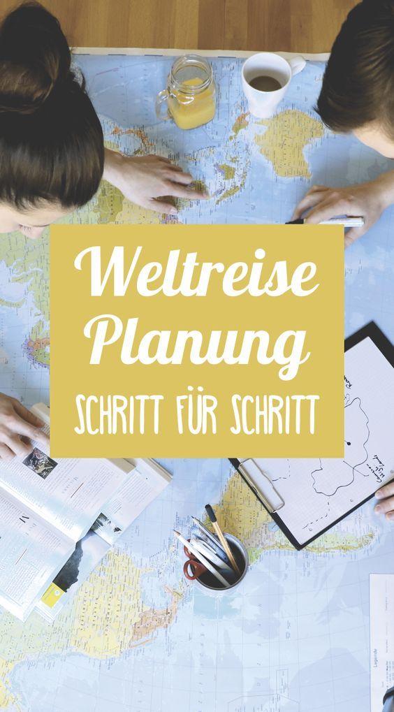 Eine Weltreise planen  ➸ Schritt für Schritt