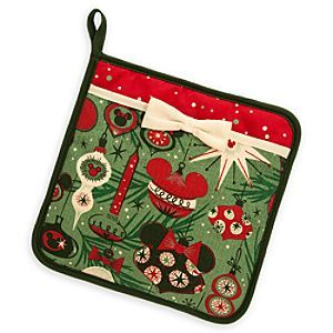 Disney Mickey Mouse Holiday Pot Holder | Disney StoreMickey Mouse Holiday Pot Holder - Handle with care when preparing the holiday meal. The festive design on this pot holder features Christmas decorations inspired by Mickey and Minnie, who are only too happy to help out in the kitchen.