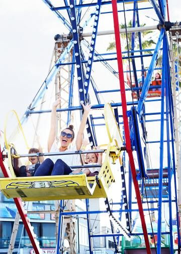 Mom and Child on Ride