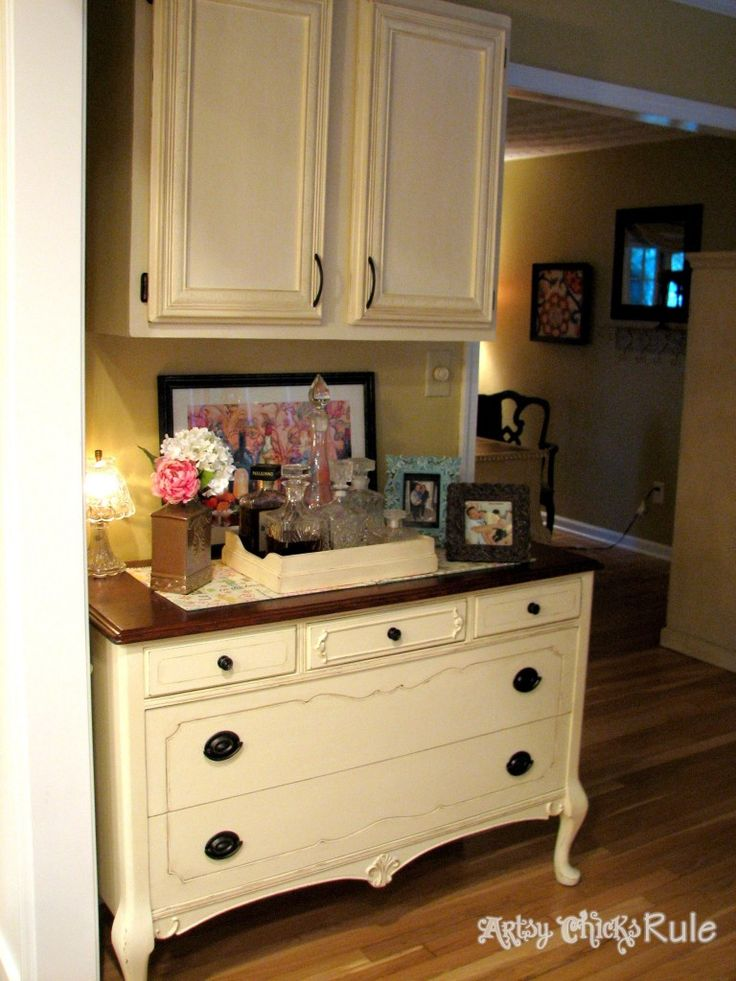 Antique Dresser Makeover {Stripped, Restained & Repainted} - Artsy Chicks Rule