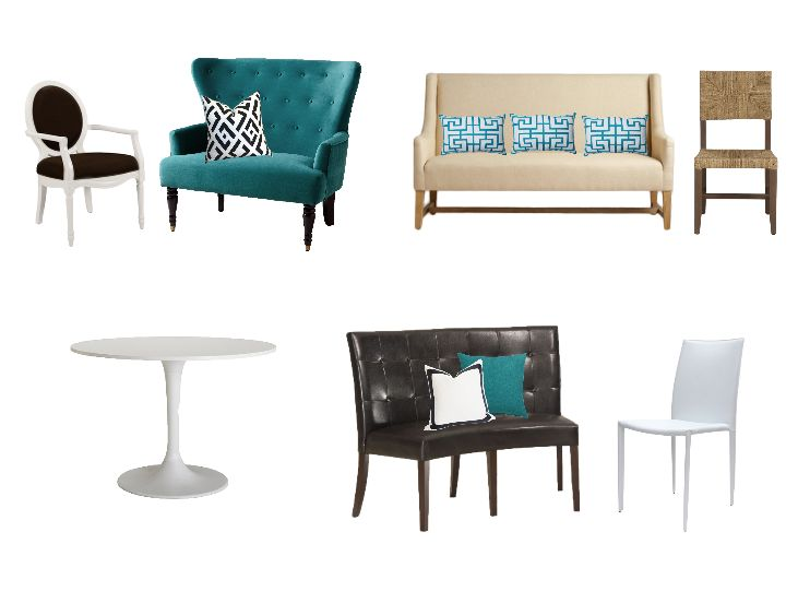 I need help fining an affordable settee / dining banquette to pair with my Ikea Docksta table. My color palette is white black beige and turquoise. - See more at: http://www.decorist.com/question/496/i-need-help-fining-an-affordable-settee-dining-banquette-to-pair-with-my-ikea-docksta-table-my-color-palette-is-white-black-bei/#sthash.YyHsvTET.dpuf