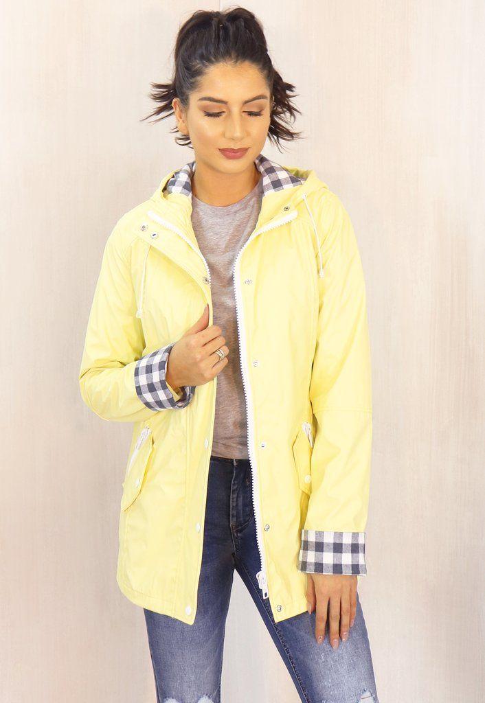 81db7b6dc Kimmy Matte Rubberised Hooded Raincoat Mac in Lemon Yellow | www ...
