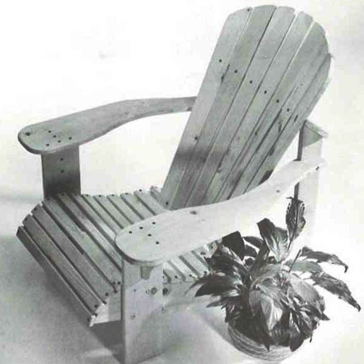 Adirondack Chair Plans Complete plans and video show you how to build a classic Adirondack chair. This ...