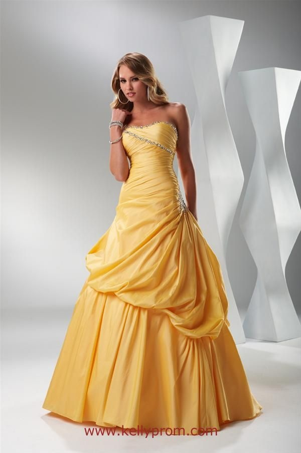 beaded strapless prom dress by flirt