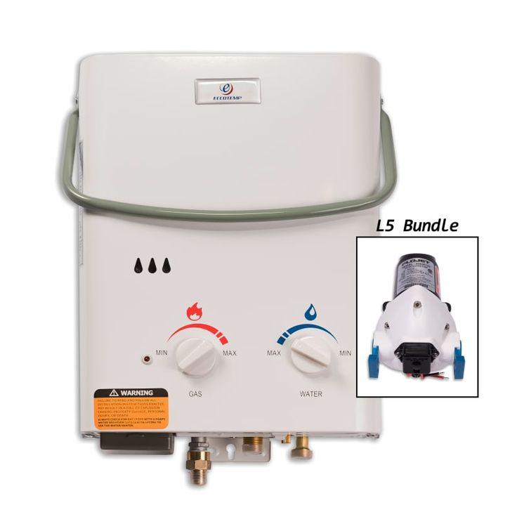 Eccotemp L5-P 1.5 Gallon 11 Kilowatt Portable Liquid Propane Tankless Water Heat Tankless Water Heaters Point-Of-Use Gas/Propane