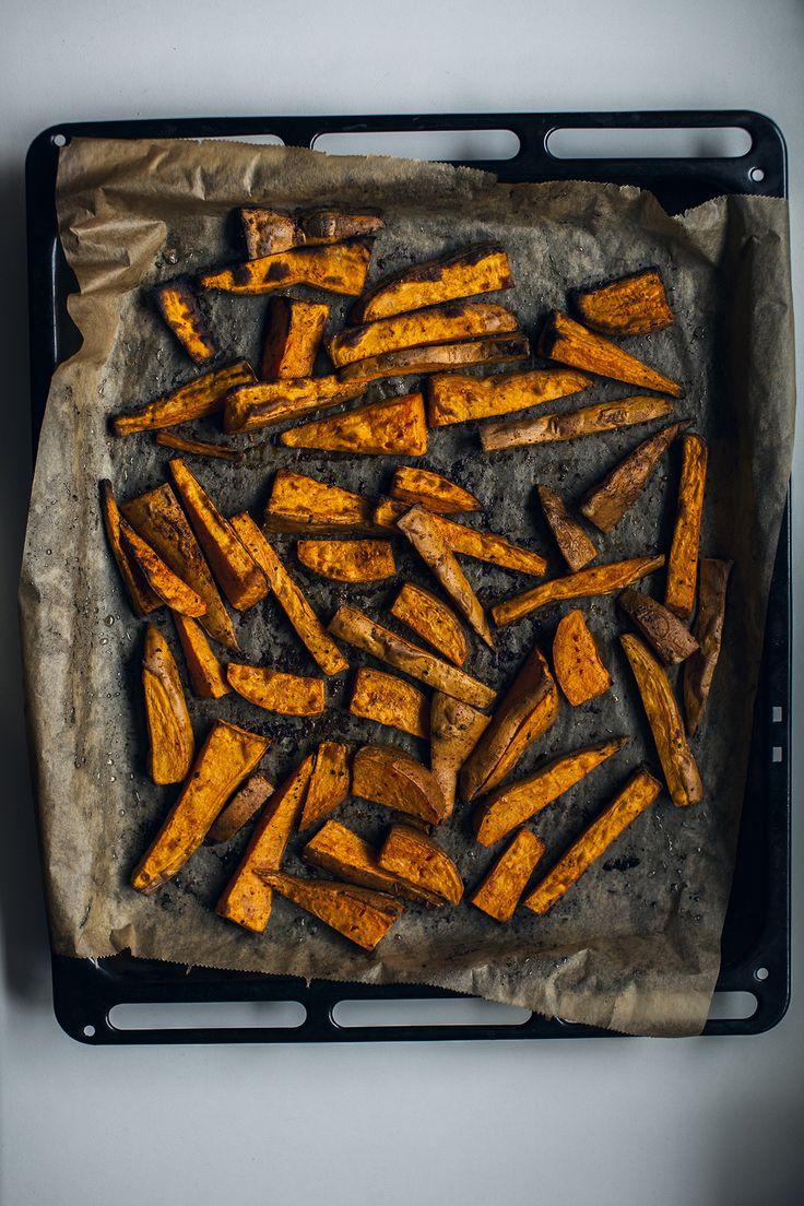 Sweet Potato Fries. See recipe at http://honestmunchies.com/sweet-potato-fries/