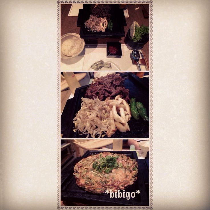 Korean food at bibigo