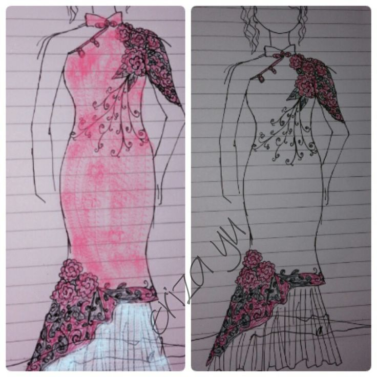 This is ones of my favorite. Hahahah.. #fashiondesign #traditionalchinesse #cheongsam #design #draws