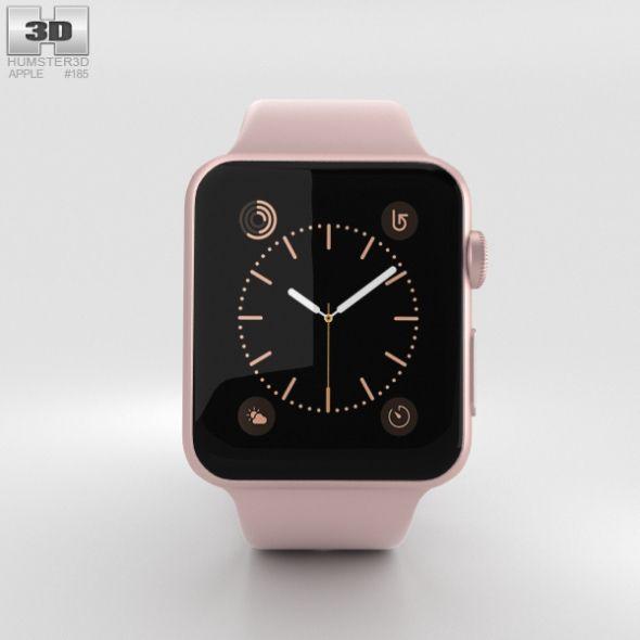Apple Watch Series 2 38mm Rose Gold Aluminum Case Pink Sand Sport Band Apple Watch Apple Watch Series 2 Pink Sand