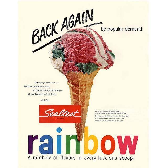 Vintage 1950's Ad -- Sealtest Ice Cream