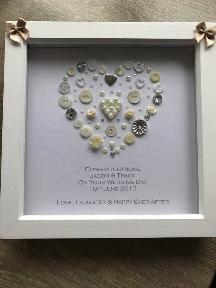 Personalised Wedding Gift On Art Designed Heart Bride And Groom Mr Mrs Newly Wed Anniversary