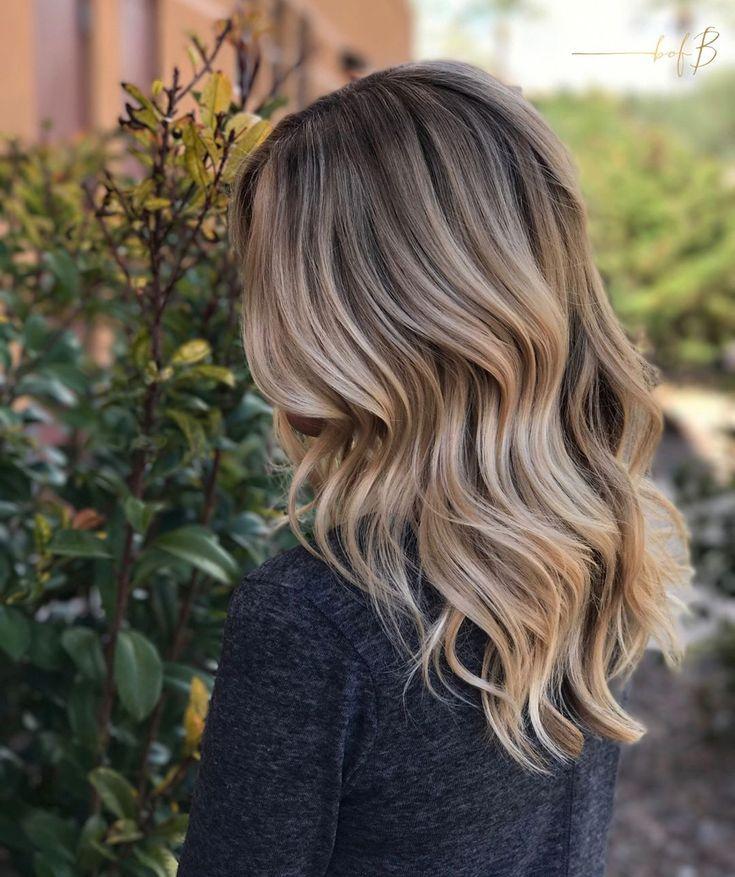 Von mittelbraun auf blond