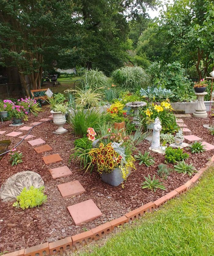 Concrete Blocks Planter For